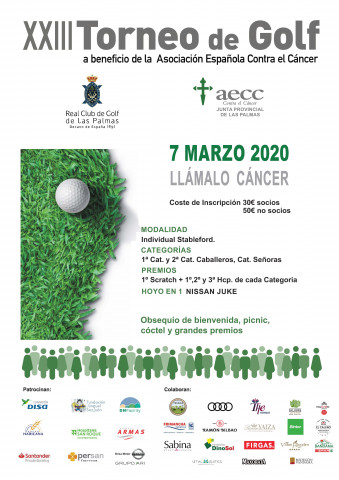 cartel torneo golf aecc